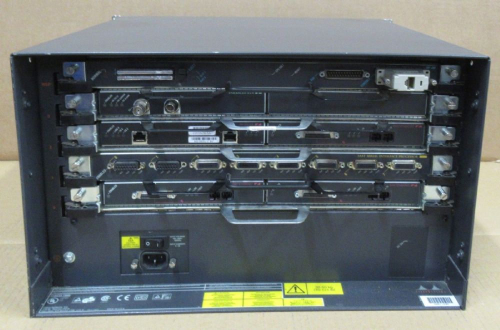 Cisco 7505 5-Card Slot 6U Network Ethernet Rack Mount Router/ Switch